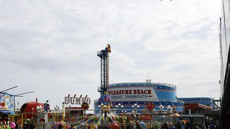 Great Yarmouth Pleasure Beach amusement park is spread across nine acres of the seafront. In 2017 al