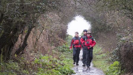 Search and Rescue teams working in the Hopton area to find missing women Carol Smalley.Picture: Nick