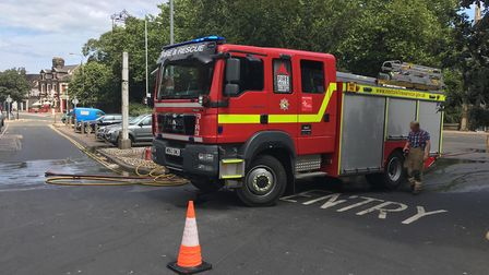 Fire engines from Martham and Gorleston attended the scene Picture: Jacob Massey
