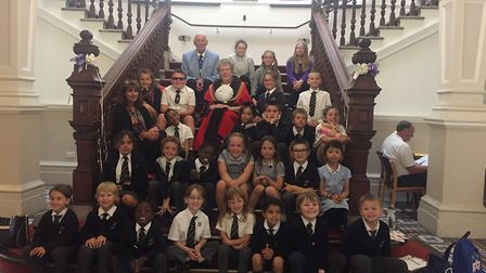 Children from Great Yarmouth Primary Academy held a debate with the mayor at the Town Hall