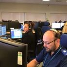 Suffolk police control room that received calls from Joshua Harris . Picture: LAUREN DE BOISE