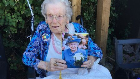 Eileen May Farringdon of Gorleston celebrated her 100th birthday on August 2, 2018. Photo: William F
