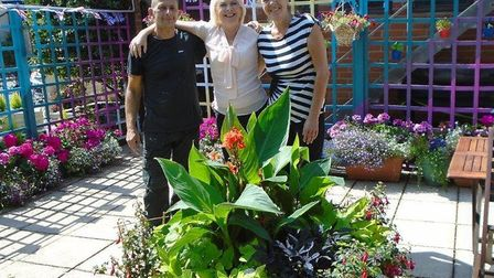 Ewa Kujawa, centre, with maintenance man Karl Thompson and cook Julie Copping. Photo: Kingsley Healt