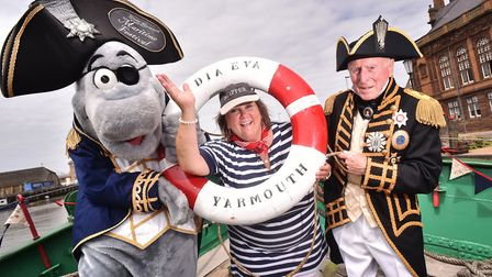 Launch of the Great Yarmouth Maritime Festival on the Lydia Eve ship. Chairman Aileen Mobbs.Picture: