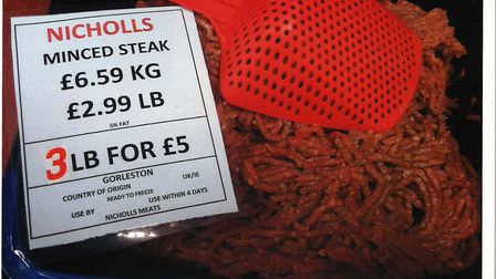 The mislabelled mince steak Picture: Norfolk County Council