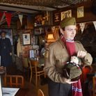 Dad's Army and Wartime collector Darren Stride has opend 'Poppylands' tea room in Horsey,Norfolk.Pi