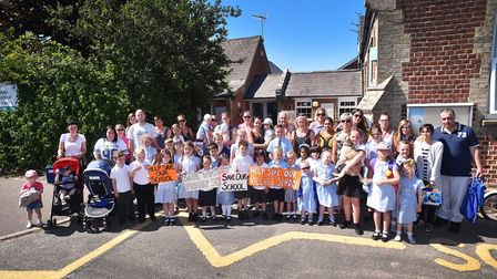 Parents and pupils and Winterton Primary School and Nursery are angry at the proposed closure. Pictu