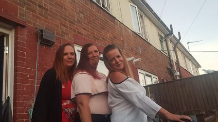 From left to right, Rebecca Kilkick, Katie Kilkick, and Gemma Reynolds. Picture: Gemma Reynolds