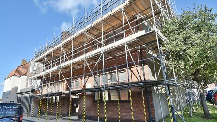 Renovation of 11, Queen Street in Great Yarmouth.Picture: ANTONY KELLY