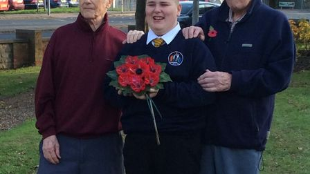 Children from Year 6 at Northgate Primary School made poppies with the residents from The Lawns. Pic