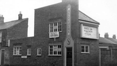 "The newer Belvedere Tavern, on Kitchener Road, the name spelled with a middle ""e"", in January 1972."