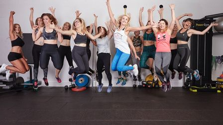 The team at the The Hut gym in Potter Heigham which has clebrated its first anniversary. Image: Nov