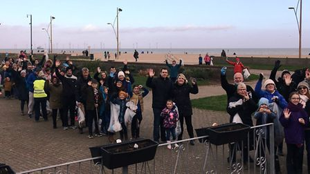 A beach clean organised by Great Yarmouth's Sea Life Centre drew more than 200 volunteers Picture: S