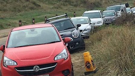 People are being asked to park considerately in Winterton to avoid gridlock in Beach Road Picture: W
