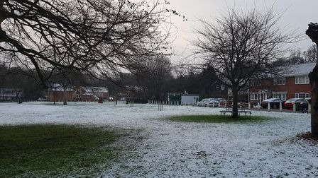 People across Great Yarmouth woke to a light dusting of snow. But will there be any more? Picture: L