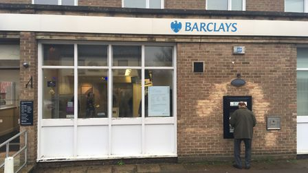 The branch of Barclays Bank in Acle which will close on May 17, leaving no banks in the town of more