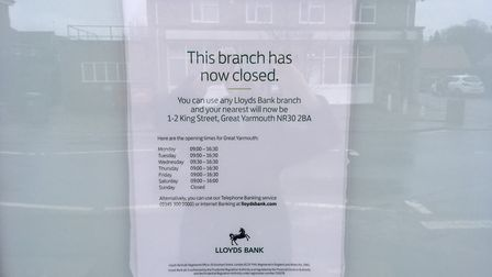Lloyds bank had a branch in Acle, opposite Barclays. It closed last year.