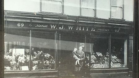 How WJ White Florists looked when it first opened in 1947. Picture: Archant