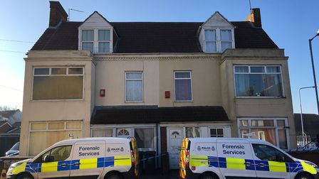 Police have sealed off a house on Rampart Road in Great Yarmouth after finding cannabis plants there