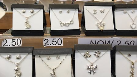 The necklace and earring sets from Martyn's Walkaround Store in Great Yarmouth make the perfect pock