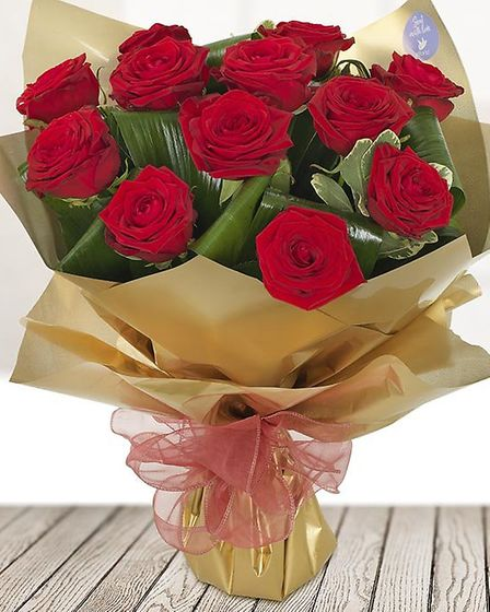 Bouquets of roses are available from £52.50 at Arcade Florist in Great Yarmouth. Picture: Henri Laxo
