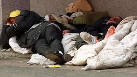 Ten homeless people died in Great Yarmouth between 2013 and 2017. Picture: PA/REBECCA NADEN