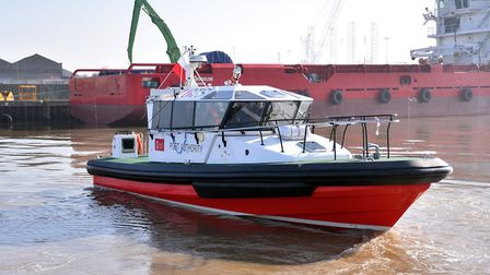 The new pilot boat, Horatio, named after Norfolks most famous son, Lord Nelson PICTURE: Jamie Honeyw