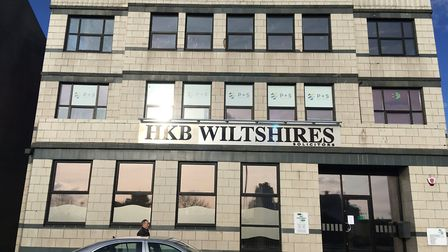 The building that housed HSBC and now is the premises of HKB Wiltshires Solicitors.