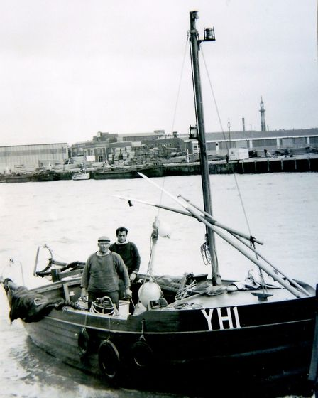 Another YH1 - the inshore boat Walisa, built in 1967 and pictured in Yarmouth harbour.