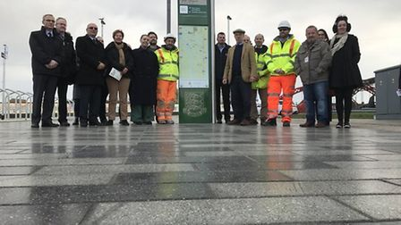 The unveiling of Great Yarmouth Rail Station. Picture: Neil Didsbury