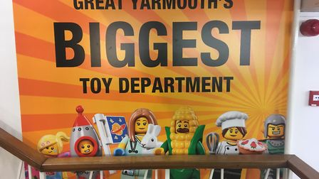Palmers department store on Market Place in Great Yarmouth now has the town's biggest toy department