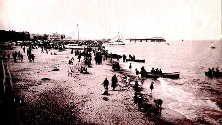 The sands at Great Yarmouth in Victorian times. There were fatalities on that shore in the 1881 stor