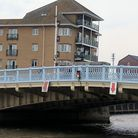 Repair work estimated to cost £16,500 is underway at Haven Bridge in Great Yarmouth.. Photo: George