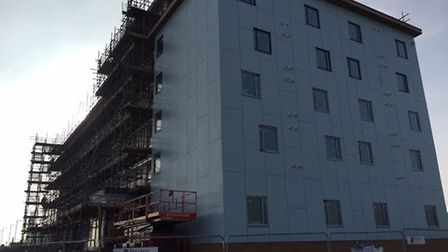 The opening of the £7.5m Premier Inn on Great Yarmouth's Golden Mile has been delayed because of hig