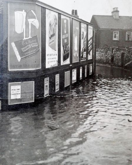 Charles Street in Great Yarmouth, showing the 1953 flooding it suffered. Picture: Terry Farman Colle