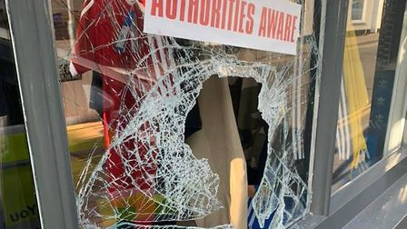 Smash-and-grab thieves have targeted Junx Clothing in Gorleston High Street making off with £1,000 o