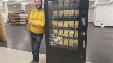 Kaavous Clayton, co-director of Original Projects with a vending machine with a difference in Great
