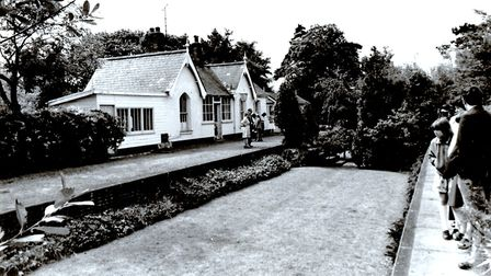 A former railway station, possibly Ormesby on the long-closed M&GN line, converted into a dwelling w