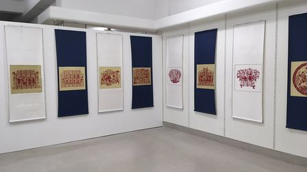 The exibition of Jaodong Window paper-cutting. Picture: Joseph Norton