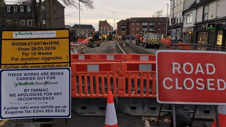 Work by Norfolk County Council to build a new crossing in the Fullers Hill area of the town began on