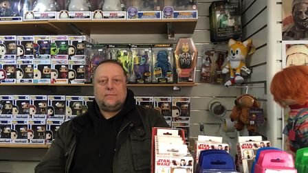 Steve Cook, owner of toy shop Branded in Regent Road, Great Yarmouth. Picture: Joseph Norton