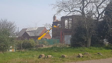The former Ferryside register office is a gaping ruin Picture: Liz Coates
