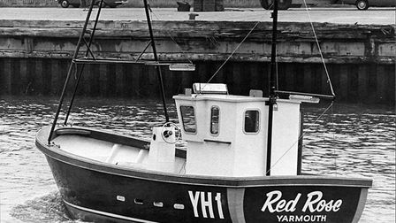 One of the few: the fishing vessel Red Rose, one of those with the distinctive YH1 Great Yarmouth po