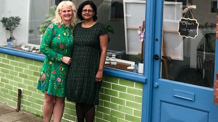 Sharon Thomson, 52, and Shathy Bano, 53, run no. 36 theartworkshop, a creative space on Bells Road i