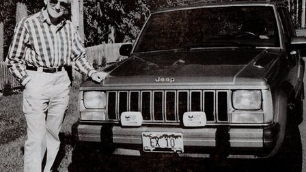A link with home: expatriate Danny Daniels with his car in Canada in 1994, index-plated EX10.