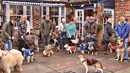 The Ship at Caister held a Christmas event for dogs. The village boasts a wealth of pubs and only on
