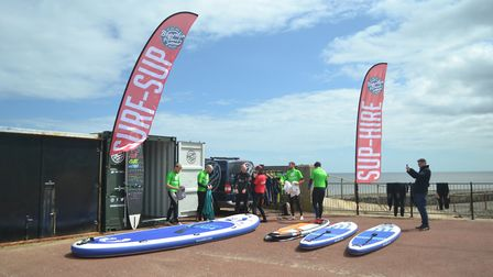 Adam Williams is bringing paddle boarding to Gorleston, with a new unit close to the Pier Hotel. Pic