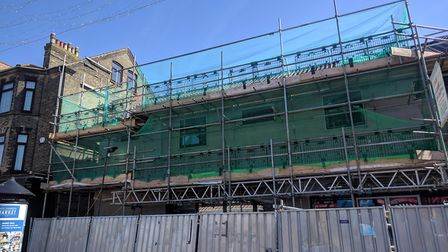 Scaffolding has been coming down from the new development on Regent Road in Great Yarmouth, where th