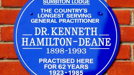 A lifetime of service to patients on record: a heritage plaque acknowledging the professional achiev