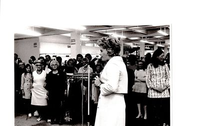 TV personality Judith Chalmers opens a new department in Debenhams Great Yarmouth store in 1971.